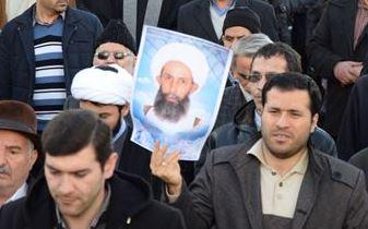 راهپیمایی مردم مرند در اعتراض به جنایت آل سعود در شهادت شیخ نمر