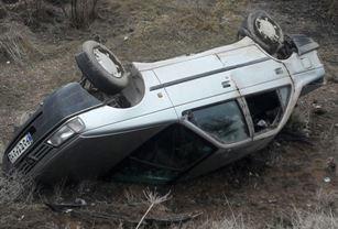 واژگونی سواری پژو در جاده مرند - تبریز