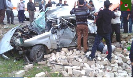 حادثه واژگونی خودوری سواری در مرند با ۴ کشته و مصدوم + تصاویر
