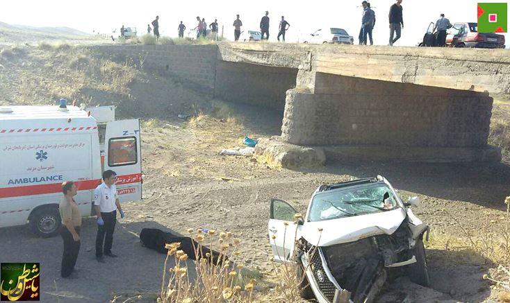 واژگونی خودروی کیا در جاده یامچی-یکانات شهرستان مرند قربانی گرفت + عکس