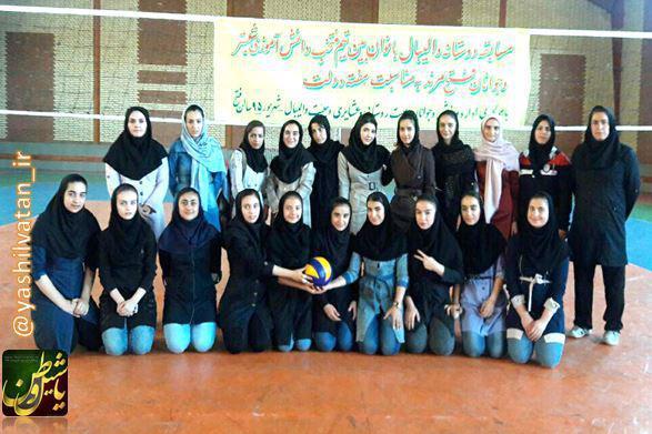مسابقه والیبال بانوان بین تیم های جوانان مرند و شبستر