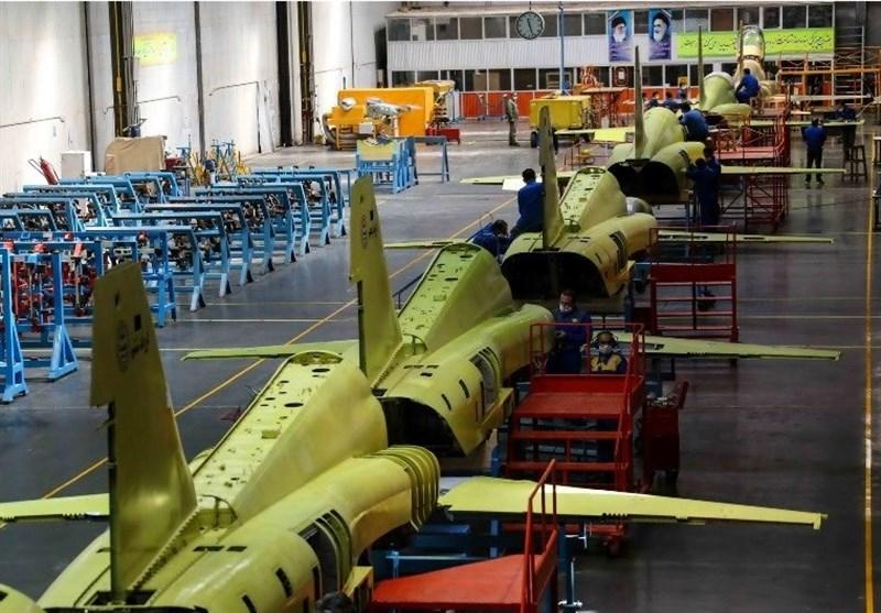 خط تولید انبوه جت جنگنده ایرانی